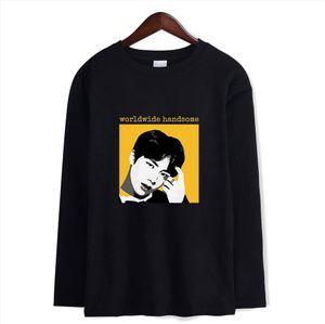 Cotton Kpop Autumn Tee Shirts Long Sleeve Hip Hop Tshirt Women Men T shirt Women 4XL