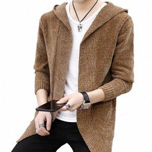 Erkekler Bahar Autumn kazak Ceket 2FlO # dış giyim Erkekler Hırka Yeni Stil Mens kazak Örgü kapüşonlu