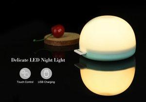 القابلة لإعادة الشحن ليلة أضواء اللمس داخلي الإضاءة ليلة ضوء التحكم الكرة بقيادة ليلة USB مصباح شحن Jk0049a