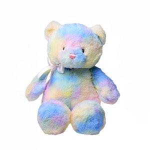 Rainbow bear plush toys 28cm 11 inches cartoon Bear plush doll soft Stuffed Animals Z0077