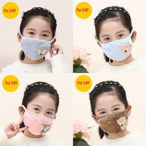 2021 Kinder-Gesichtsmasken Cartoon Stickerei Ohrenschutz Staubdicht warmen Mund-Muffel Zwei-in-one Warm Maske Earmuffs Winddichtes Ohr-Wärmer FY9231