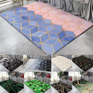 Fashion Modern Area Rugs Geometric Pattern Carpet Nordic Simple Living Room Coffee Table Room Bedroom Floor Area Rug Mat