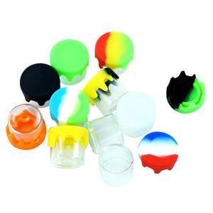 Behälter Nonstick Gläser Glas-Glas-Wachs-Container Glas Wachs Kästen und Glasölbehälter Halter für Verdampfer vape dab Werkzeugspeicher
