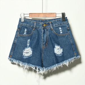 Fashion Tassel Denim Shorts Summer Women Casual Mid Waist Cotton Sexy Jean Short Fashion Button Pockets Shorts