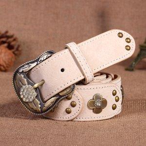 Luxury-Belts Fashion Belt women belt cow leather Belt Needle Buckle 3.8cm width Black Coffee Brown casual lady Belts 04