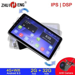 """10.1"""" Android 9.1 4Core car Radio 2G 32GB Rotatable Face Panel 2.5D Curved Screen Car Stereo Player GPS OBD 1 & 2 DIN No DVD1"""