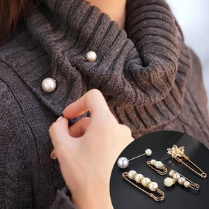 CHIMERA imitazione Pearl Spilla Pins Set 5pcs Semplice Moda Spille della lega sveglia per le donne del cappotto Abbigliamento Accessori Ornament