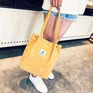 Women Fashion Corduroy Shoulder Bag Large Capacity Female Big Tote Casual Environmental Shopping Bags Women Travel Tote Handbag