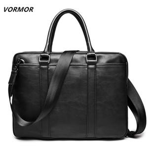 Vormor Promotion Simple Célèbre Brand Business Men Porte-documents Cuir de luxe Sac à bandoulière en cuir de luxe Bolsa Maleta Q1104