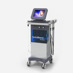8 en 1 Microcorriente Bio Microdermabrasion del diamante dermoabrasión la piel depurador de la piel facial del cuidado de uso comercial Máquina para estiramiento facial de la piel