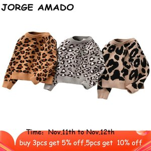 Baby Sweater Leopard Knitted Pullover Casual Long Sleeve Kids Sweaters Toddler Winter Baby Girl Boy Clothes ML001