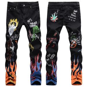 Марка Модельер Мужские зимние утепленные джинсы Брюки флисовые Разрушенное рваные джинсовые брюки Толстый Тепловое Проблемные Байкер Jean Free Ship