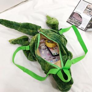어린이 어린이 선물을위한 새로운 패션 부모 - 자식 크리에이티브 D 공룡 배낭 귀여운 동물 만화 봉제 인형 배낭 공룡 가방