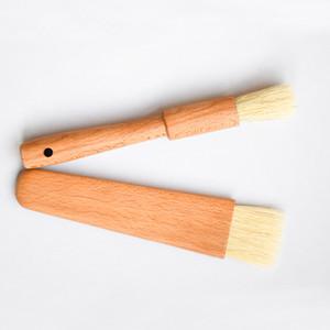 Mango plano de madera Herramientas Mane cepillos redondos Brown cabello fino mullido de cocina perforado general de pulido del cepillo 6 2SX I2