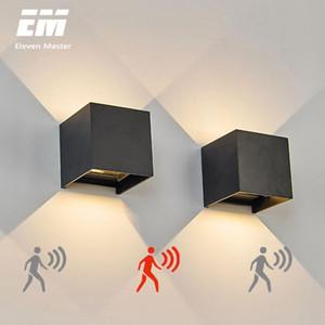 Radar Sensor Porch Light Adjustable Angle Outdoor & Indoor LED Wall Lights Garden Corridor Lamp Cube Wall Sconce ZBW0002