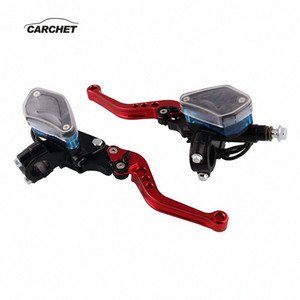 CARCHET A Pair Universal Motorcycle Handbrakes Left and Right Hydraulic Clutch Hand Brake Lever Motor Accessories MB-MH012 yrQS#