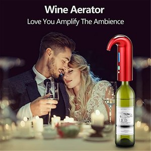 المحمولة الذكية النبيذ النبيذ decanter التلقائي الأحمر الأسود pourer مهوية dhl مجانا
