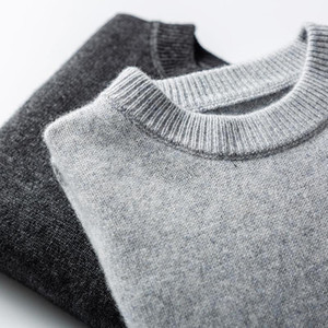 Hot Sale More Thicker Warm Sweaters Man 100% Goat Cashmere Knitting Pullovers Top Grade Soft Jumpers Male Solid Color Clothes