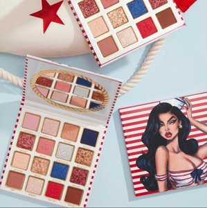 2020 New Arrival Ky Cosmetics 16 Colors Eyeshadow Palette New Sailor Summer Matte and Shimmer Eye Shadow Palettes dhl Free shipping