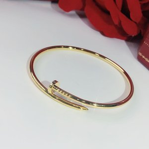 S925 Sterling Silver Silver Nails Braccialetto classico Braccialetti d'oro Punk per le donne Migliore regalo Bracciale gioielli di qualità superiore