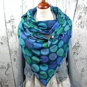 Fashion Women Scarve Soild Dot Printing Button Soft Scarves Wraps Casual Warm Scarves Shawls fashion Leisure soft personality1