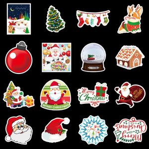 PVC print Christmas Halloween 100 unique suitcase graffiti stickers skateboard guitar refrigerator decoration waterproof kids reuse KKF2081
