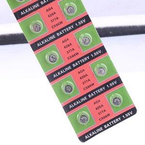 رخيصة 49٪ خصم 20PCS (1PACK) 100٪ الأصلي 377 SR626SW 626 SR626 V377 AG4 AG4 AG4 Watch Battery Button Coin Cell Made in China Wmtysw