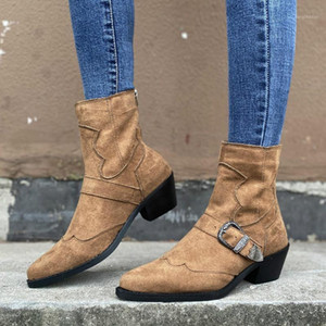 Women Boots Autumn Winter Fashion Leather High Heels Women Ankle Boots Ladies Short Shoes Female Casual1