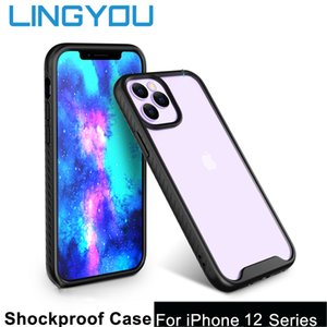 LINGYOU Shockproof For iPhone 12 12 Pro 12 Mini 12 Pro Max Transparent Hard Protective Bumper Phone Case