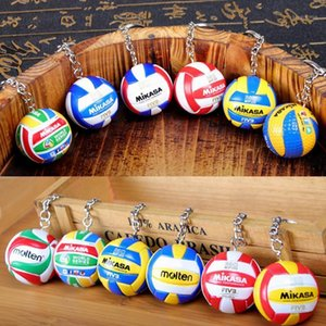 20pcs Sport Beach Volleyball PVC Keychain Key Chains Chain Ring Football Beach Ball Key Ring Gifts Men Jewelry Keyring Keychains1