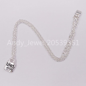 Authentic Necklace Chain 4 Friendship BraceletsUNO de 50 Plated Jewelry Fits European Style Gift COL1366MTL0000U