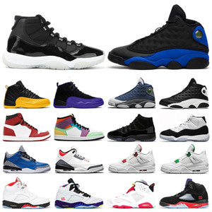 Jumpman Mens Basketball Shoes 13s Hyper Royal 12s 11s 25th Anniversary Dark Concord 1s light smoke grey Sport Sneakers Shoes 7-1