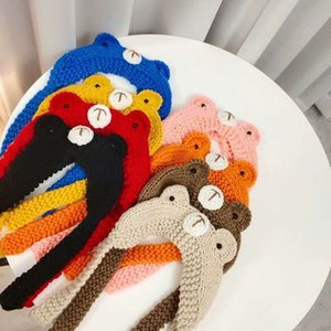 2021 autumn new product parents children can bring Korean cartoon bear hair with fashionable and lovely Headband