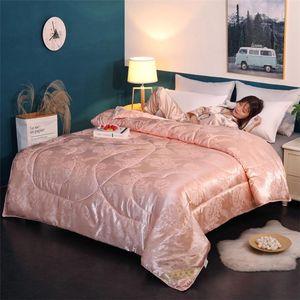 Comforters & Sets S 100% Mulberry Silk Comforter For Winter summer King Queen Full Twin Size White red Color Quilt duvet blanket Filler