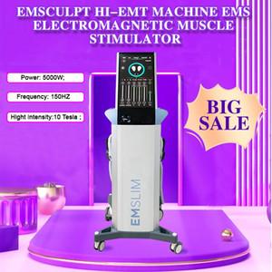 2021 أحدث آلة EMSLIM EMS HI-EMT Sculpt EMS تحفيز العضلات الكهرومغناطيسي الدهون حرق تشكيل هيدروث معدات تجميل