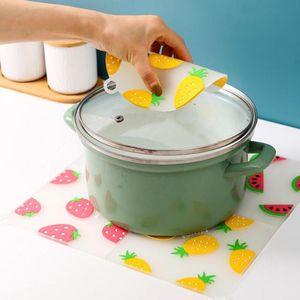 Isolamento del silicone Placemat Creativo Frutta della famiglia antiscivolo antiscivolo Coaster Applegabile ad alta temperatura Soft Tea Coaster Table decorazione della tavola HWF4385