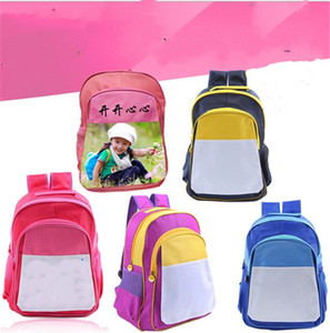 Sublimation Blank White Backpack DIY Thermal Transfer Heat Printing Rusksack Kids Boy Girls Shoulders Bags Large Duffle Book Bags E121409