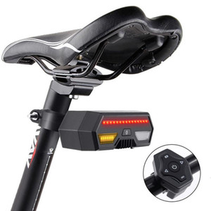 Wireless Bike light Brake Bicycle Rear Light laser tail lamp Smart USB Rechargeable Cycling Accessories Remote Turn led 8