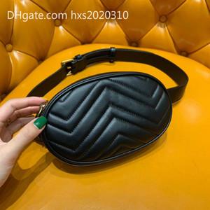 las mujeres del bolso de cuero genuino bolso de la cintura Marmont alta calidad caja original diseñador de la marca famosa nueva moda