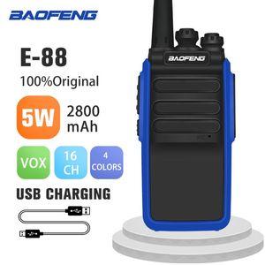 Walkie Talkie Upgrade Baofeng BF 888S BF-E88 Portable CB Ham Radio 5W Bf888S Handheld HF Transceiver Intercom BF-888S Transmitte