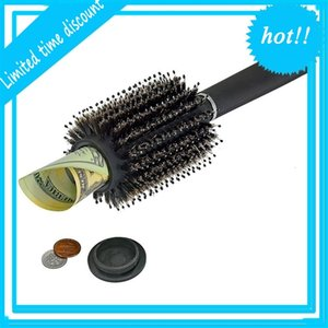 Hair Brush comb Hollow Container Black Stash Safe Diversion Secret Hairbrush Hidden Valuable for Home Security Storage box FFA2468A
