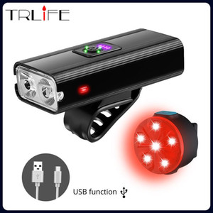 Powerful Bicycle Light Headlight Bicycle Handlebar Front Lamp MTB Rode Cycling USB Rechargeable Safety Tail Light