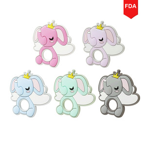 New Elephant Shaped Animal Food Grade Silicone Baby Teether Silicon Teethers Set Teething Molar Toys Kids Bpa Free