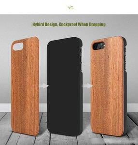 iPhone Para Genuine Caso de madeira 7 Plus Multi-Grain Original Natural Wood dura do PC Voltar Liso caso do iPhone 7 Touch Para