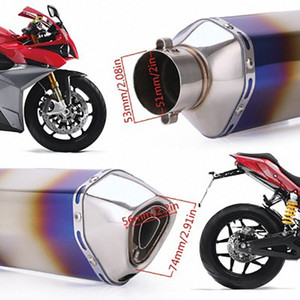 A Large Number Of Spot Motorcycle Modified Exhaust Pipe 51mm Exhaust Muffler Is Suitable For Most Models kCaH#