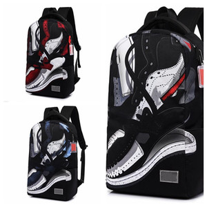 Fashion Graffiti Basketball Backpack Waterproof Backpack Travel Pack Sports Bag Pack Outdoor Mountaineering Hiking Climbing Camping Backpack