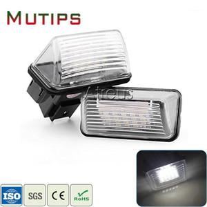 Mutips Car LED License Plate Lights 12V For 307 206 207 306 308 C4 C5 C3 XSARA White SMD LED Number Plate Lamp1