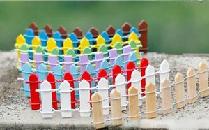 Mini Fence Small Barrier Wooden Resin Miniature Fairy Garden Decorations Miniature Fences for Gardens Tiny Barriers