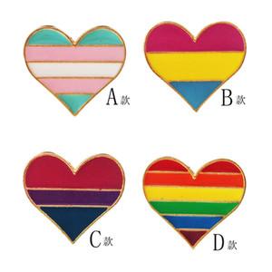 DIY Pins Радуга в форме сердца Любовь моды броши Позолоченные Знак Портативный украшения аксессуары высокого качества падение 3fk M2