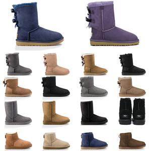 2020 UGG ugg uggs australia botas de mujer castaña botas para la nieve marrón rosado azul marino de la moda negro corto clásico botín para mujer zapatos de invierno